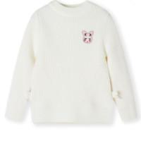 Balabala/巴拉巴拉 儿童毛线针织衫 梦幻粉6320/米白1310