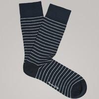 白菜党 : Massimo Dutti 00616033401 男士条纹袜