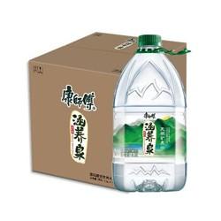 涵养泉4.5L*4瓶天然矿泉水偏硅酸型桶装家庭用水康师傅出品 *2件