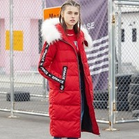 BOSIDENG 波司登 B70142138V 女士织带中长款时尚保暖羽绒服