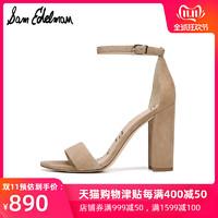 SAM EDELMAN2019秋新品一字带凉鞋粗跟高跟女鞋YARO E8511