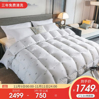 霞珍羽绒被95白鹅绒被子  银色皇冠印花 220*240cm加厚款 +凑单品