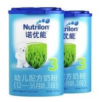 Nutrilon 诺优能 婴儿配方奶粉 3段 800g 中文版 2罐装 *4件