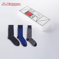 Kappa/卡帕  KP8K05 男士时尚个性潮牌长筒袜 3双装 *2件