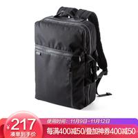 SANWA SUPPLY 笔记本电脑双肩背包 时尚休闲男女背包 日常通勤手提包BAGBP016BK 黑色 13.3英寸 *2件