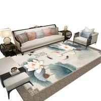九氏Joesh新款中式风格地垫地毯 客厅、茶几卧室垫