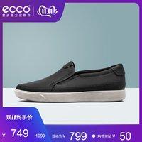 移动端 : ECCO爱步休闲乐福鞋鞋男 秋季一脚蹬豆豆鞋板鞋皮鞋男 盖理500834