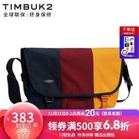 TIMBUK2美国天霸拼色邮差包经典单肩包信使包男女帆布斜挎包 黄色/红色 XS