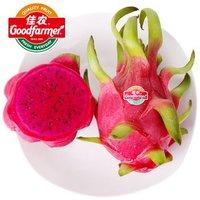 佳农 越南红心火龙果 6个装 总重约2kg以上 *6件 +凑单品