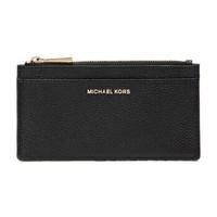 MICHAEL KORS 迈克·科尔斯 MK卡包 奢侈品 皮革女士卡包卡夹 大号黑色 32S8GF6D7L BLACK *3件