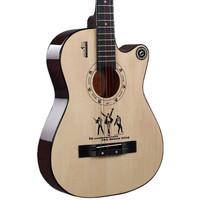 GIXE 歌西 吉他民谣彩弦木吉它 38寸 G-15C 升级版金属弦钮原木色 *2件