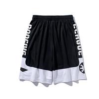 李宁(LI-NING)男裤BAD5街头3 1韦德篮球运动裤宽松迷彩短裤AAPP047