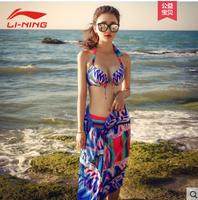 LI-NING 李宁 LSLL302 三点式仙女范泳装