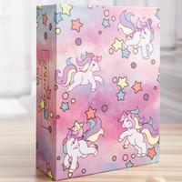 亮丽(SPLENDID)相册 相薄 大6英寸100张 插页式影集纪念册礼物 粉色独角兽 *3件