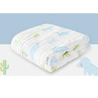 gb好孩子婴儿浴巾抱被宝宝六层纱布包巾大毛巾被新生儿童纯棉洗澡巾盖毯子 侏罗纪公园-蓝色