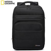 国家地理National Geographic双肩包女电脑包男15.6英寸多功能大容量书包商务休闲背包  黑色