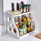 家用厨房收纳神器落地多层置物架子调料油盐酱醋收纳架调味品刀架 9.9元