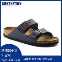 BIRKENSTOCK软木拖鞋男女同款进口时尚凉鞋拖鞋女Arizona系列 蓝色-常规版 41