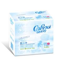 可心柔(COROU)婴儿纸巾柔润保湿抽纸面巾纸3层60抽5包 *4件