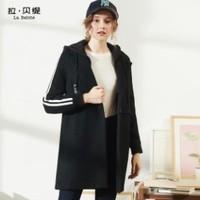 La Babite 拉贝缇  60005722女士带帽加厚羊毛呢大衣