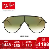 RayBan雷朋太阳镜男女款金属框单片式潮流渐变镜片墨镜0RB3597 002/W0黑色镜框渐变绿色反光红镜片 尺寸33