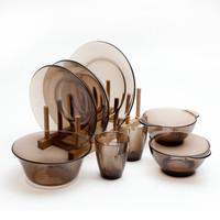 DURALEX 多莱斯 钢化玻璃餐具 8件套 咖啡色