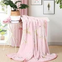 水星家纺 凯莉花园 法兰绒毯 180×200cm