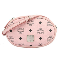 MCM 女士粉色人造革印logo腰包斜挎包两用 MWZ 9SSE09 PZ001