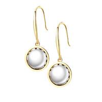 【优雅女人】AITEKA 爱缇卡 925银 电镀18k真金 天然淡水黑白两色优雅高跟鞋珍珠耳饰LM1 白色