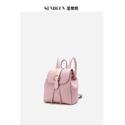 圣蒂梵真皮女包双肩包女韩版2019新款牛皮女包手提女背包旅行包