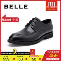 BELLE/百丽2019秋季新款牛皮英伦风商务正装男皮鞋 婚鞋39851CM9 黑色 39