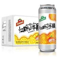 汉斯小木屋 果啤 橙味果啤 果味饮料 500ml*12听 整箱 橙色 橙味果啤 *2件