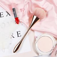 优家(UPLUS)金属光感多功能小蛮腰软毛化妆刷(定妆刷 散粉刷 蜜粉刷 腮红刷)+凑单品