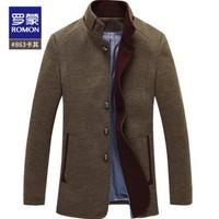 ROMON 罗蒙 DY18HF16863 羊毛混纺大衣