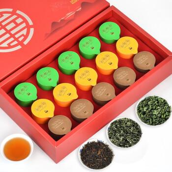 茶益冠香 红茶铁观音碧螺 三大茗茶组合装 200g