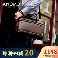 KNOMO英伦真皮单肩包商务公文包男士头层牛皮休闲单肩斜挎背包Foster手提包 适用于14寸以内机型
