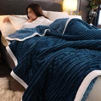 Xanlenss 轩蓝仕 三层加厚魔法羊羔绒毛毯 150*200cm 3.8斤