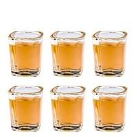 SURANER 舒拉娜 四方白酒杯 60ml 6个