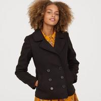 H&M HM0633456 女装毡制短款大衣