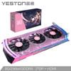 盈通(yeston) RX5700XT 8G D6 樱瞳 Boost 2010MHz/14GHz 8GB/256bit GDDR6/ 豪华三风扇 游戏显卡