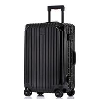 奢选SHEXUAN 行李箱铝框29英寸静音万向轮出差旅行箱男女商务拉杆箱 7019-尊贵黑