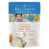 贝拉米 婴儿南瓜益生元米粉125g 袋装 5个月以上