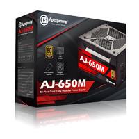 美商艾湃电竞 AJ-650M 额定650W 全模组 80PLUS 金牌 台式机电源