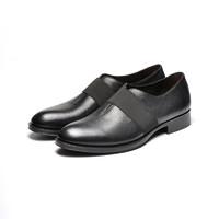 考拉工厂店 无需系带进口牛皮商务休闲皮鞋 *2件