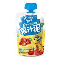 Heinz 亨氏 乐维滋 果汁泥 120g 苹果草莓山楂红枣味 *35件