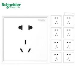 Schneider Electric 施耐德 皓朗白 86型五孔插座 10只装