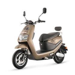 绿源电动轻便摩托车新国标电瓶车60V男女成人新品踏板代步车 MB5 石栗棕