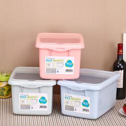 茶花 收纳箱米桶储米箱面粉桶15斤防潮防虫 颜色随机 2303* *3件