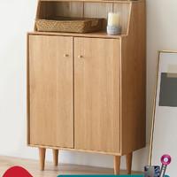 原始原素实木鞋柜北欧简约现代多功能收纳柜家用门口玄关柜B3091