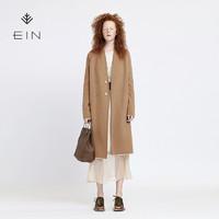 EIN/言羊毛简约文艺针织衫女开衫长款气质毛衣毛衫外套2019秋冬新